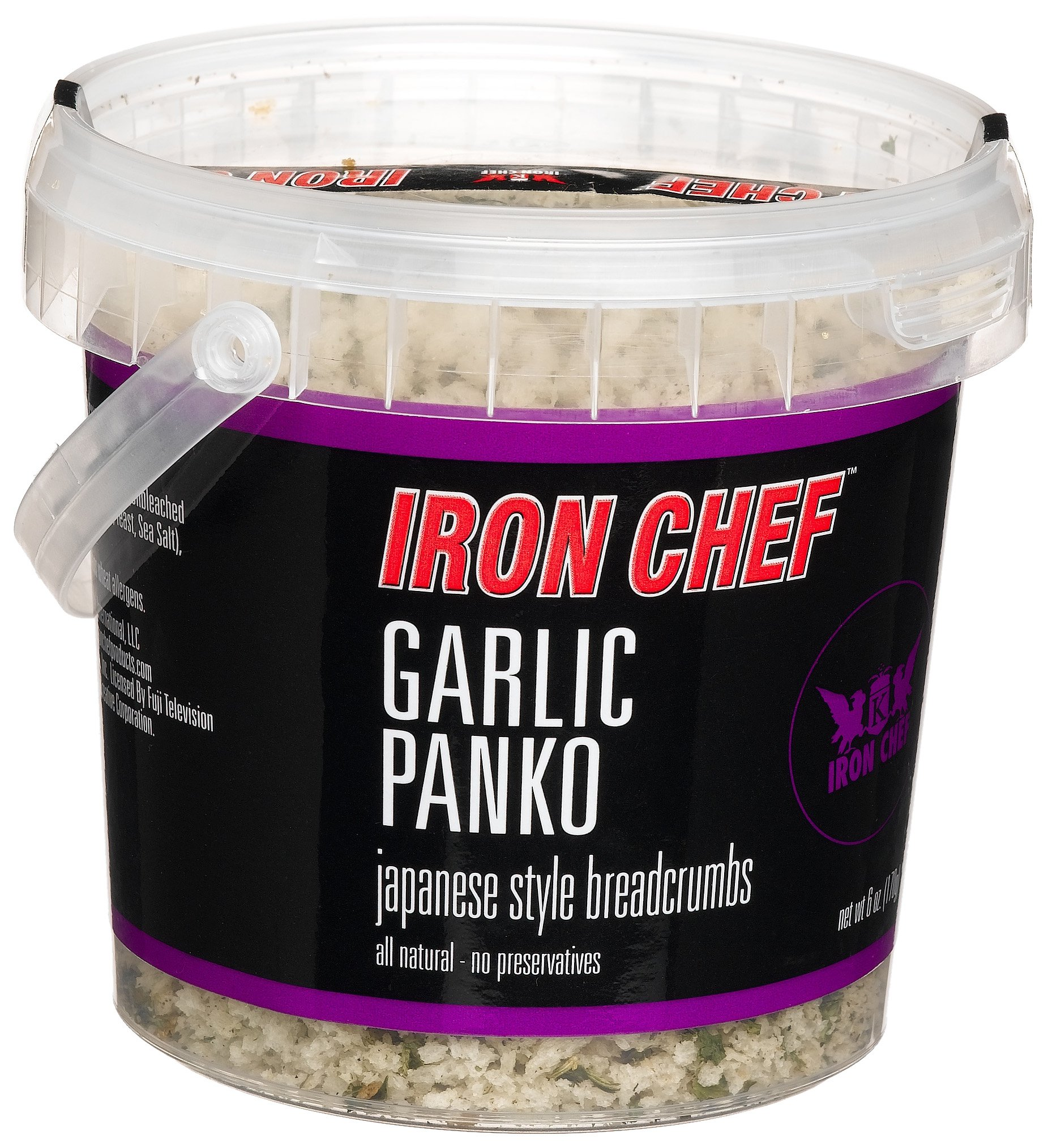 IRON CHEF Garlic Flavored Panko, Certified Kosher, 6-Ounce Buckets (Pack of 3) by Iron Chef (Image #1)