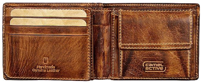 317c3c782d4a camel active, kleine Geldbörse aus echtem Leder für Herren, braun