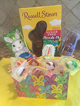 Amazon sugar free hippity hop easter bunny gift box by sugar free hippity hop easter bunny gift box by diabetic candy filled with chocolate candy negle Images