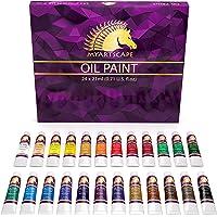 Oil Paint Set - 21ml x 24 Tubes - Artists Quality Art Paints - Oil-Based Color - Professional Painting Supplies…