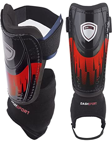 c15628d5b DashSport Soccer Shin Guards -Youth Sizes Best Kids Soccer Equipment with  Ankle Sleeves - Great