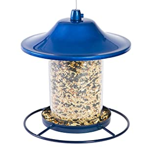 Perky-Pet 312B Blue Sparkle Panorama Bird Feeder