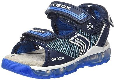 Geox J Gleeful A, Sandales Bout Fermé Garçon, Bleu (Navy/Lt Blue), 28 EU