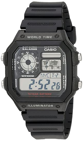 7276ff6d4f1 Amazon.com  Casio Men s AE1200WH-1A World Time Multifunction Watch ...