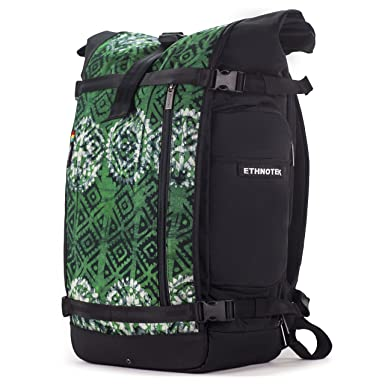 Ethnotek Raja Backpacking Backpack Pack Hand Woven Tribal Fabric Large 46L