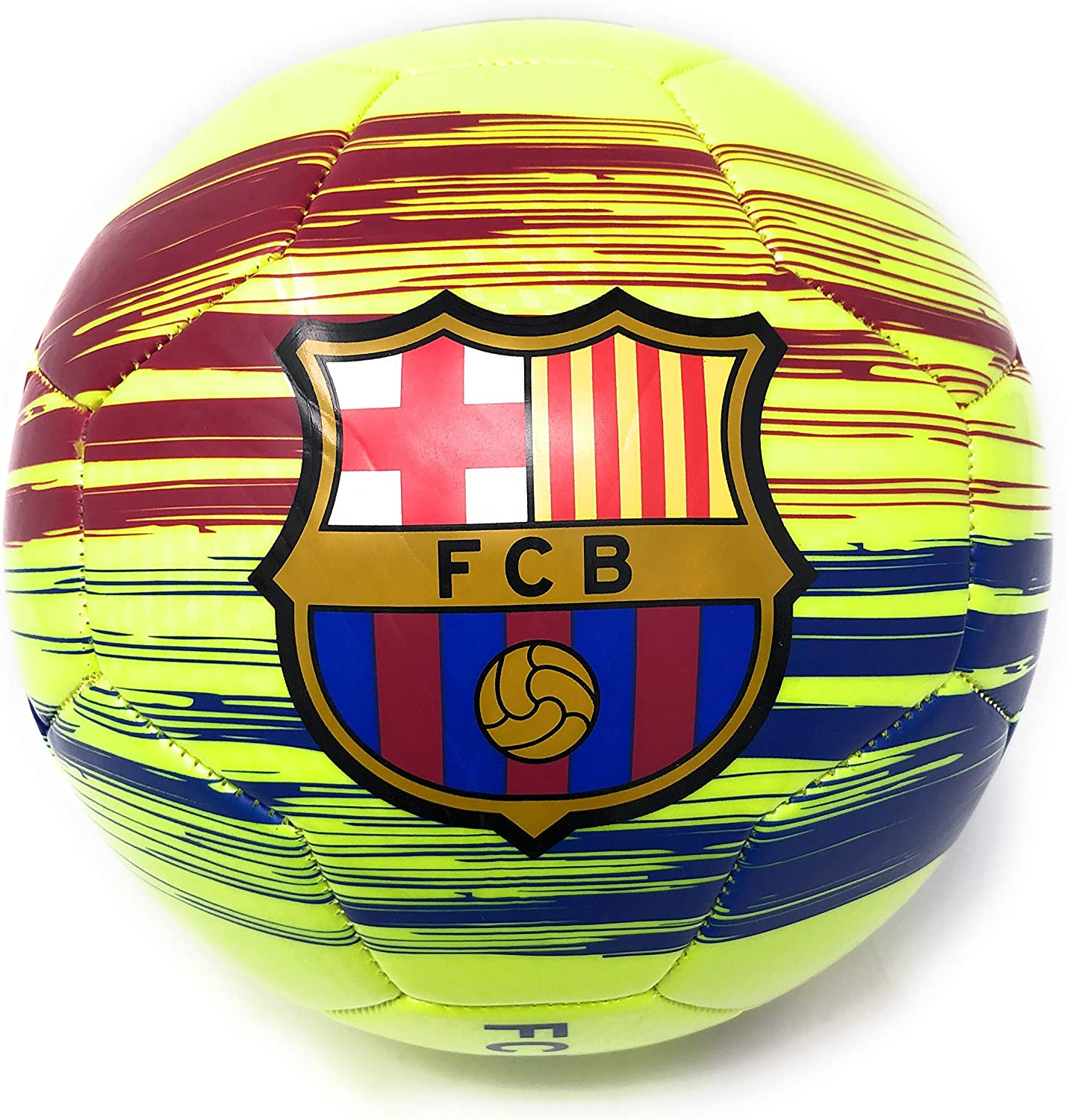 FC Barcelona Size 5 Soccer Ball Messi Official Licensed Signature Barca Futbol Great for Kids Soccer, Players, Trainers, Coaches Gift