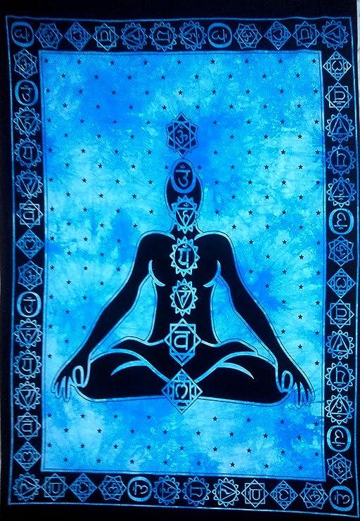 "Om Mandala Prayer Meditation Wall Hanging Yoga Mat Indian Poster Tapestry 30*40/"""