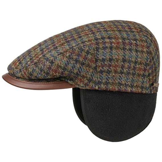 de8e5212c5de9b Stetson Kent Wool Flat Cap With Earflaps: Amazon.co.uk: Clothing