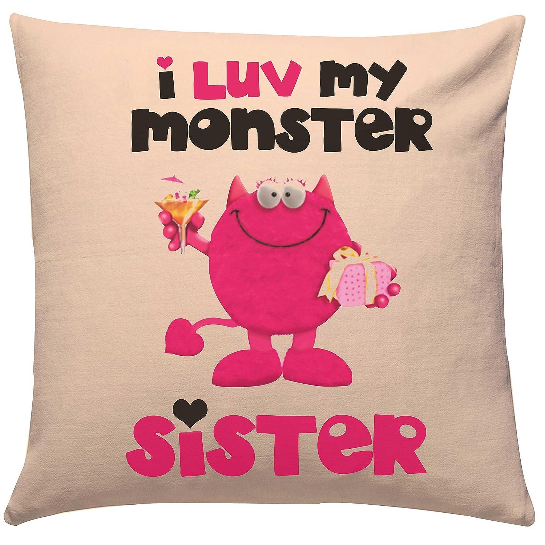 Perfect Giftsbymeeta Rakhi Gifts Love Monster Sister Cushion (Rakhi Gifts  NQ47