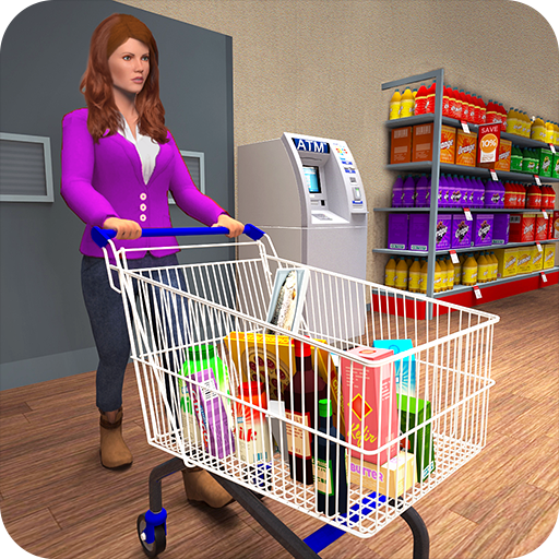 Supermarket Grocery Store Shopping Mall Game For Girls, Shopping Mall Supermarket Simulator Atm Machine Cash Register Game (Free Games For Girls)