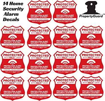 8 cellular 1 Yard sign LIVE Alarm SECURITY SURVEILLANCE DECAL STICKER WINDOW