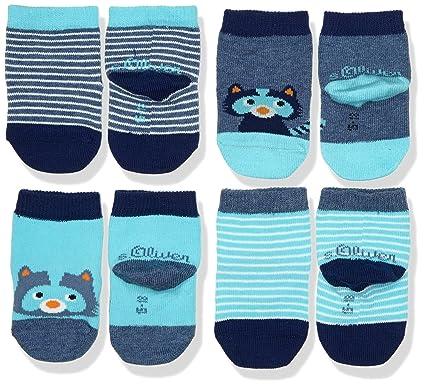 6d68be4626729 s.Oliver Socks Baby Fashion Socks 4p, Chaussettes Bébé garçon, Bleu (Denim