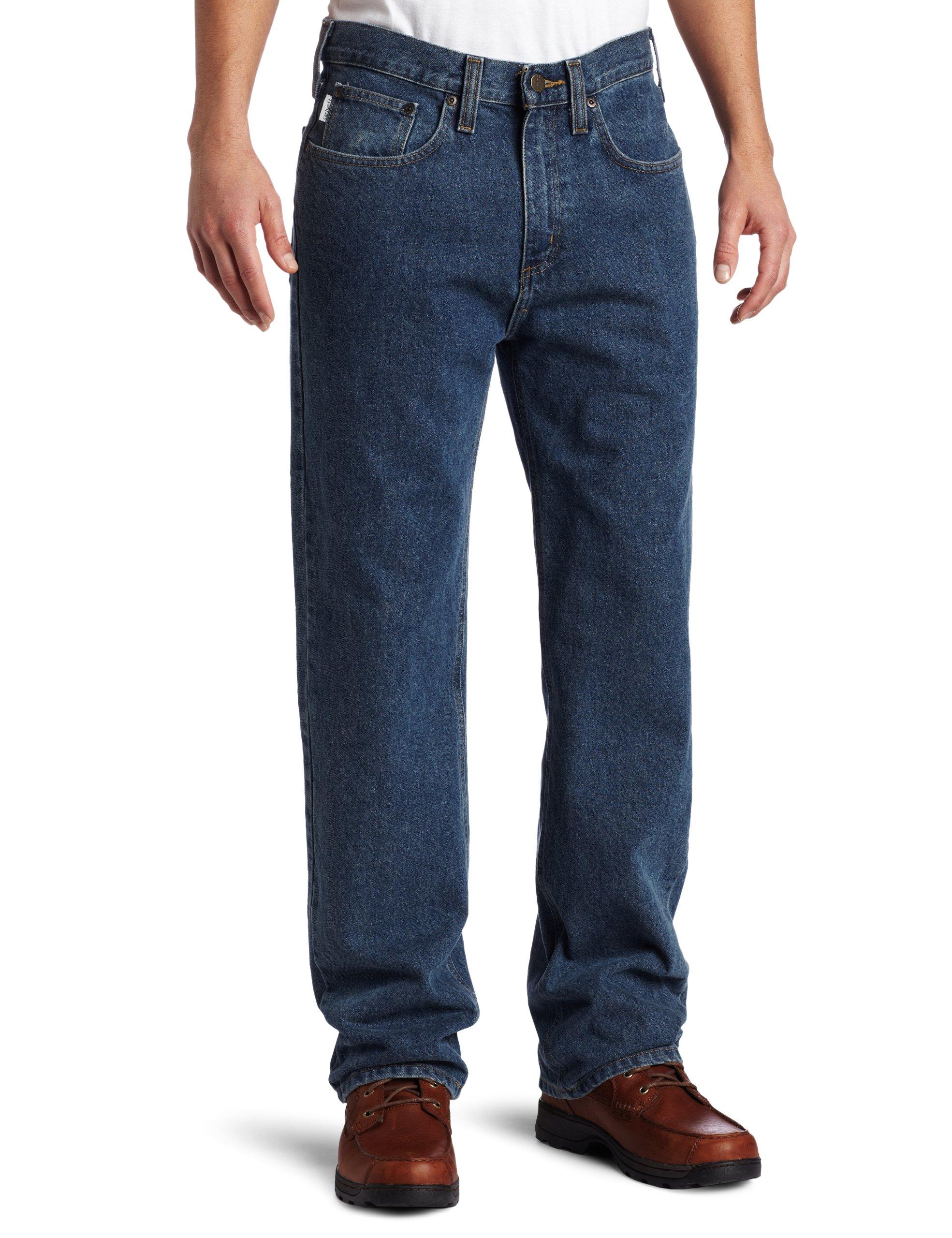 Carhartt Men's Relaxed Straight Denim Five Pocket Jean,Deepstone,34 x 32