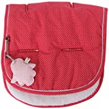 Minene Universal Pushchair Liner Stroller Pram Buggy Footmuff Cosytoes Car Seat (Red with White Dots)