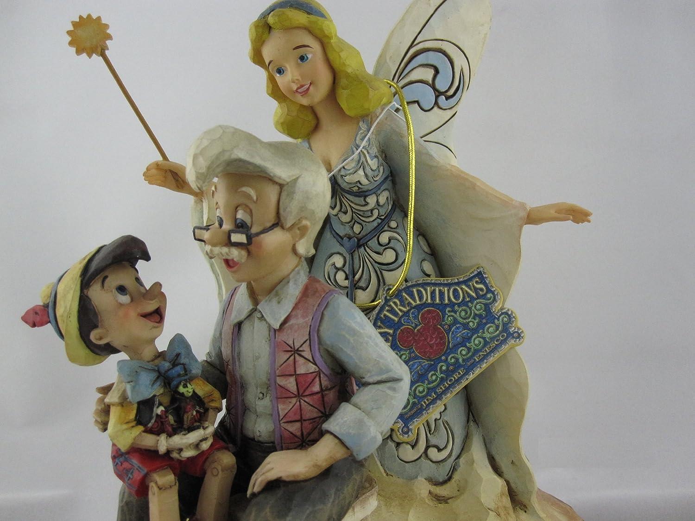 Petito grillo y el Hada Azul Figurilla de Pinocho Multicolor de Resina Altura de 21 cm Disney Enesco Tradition
