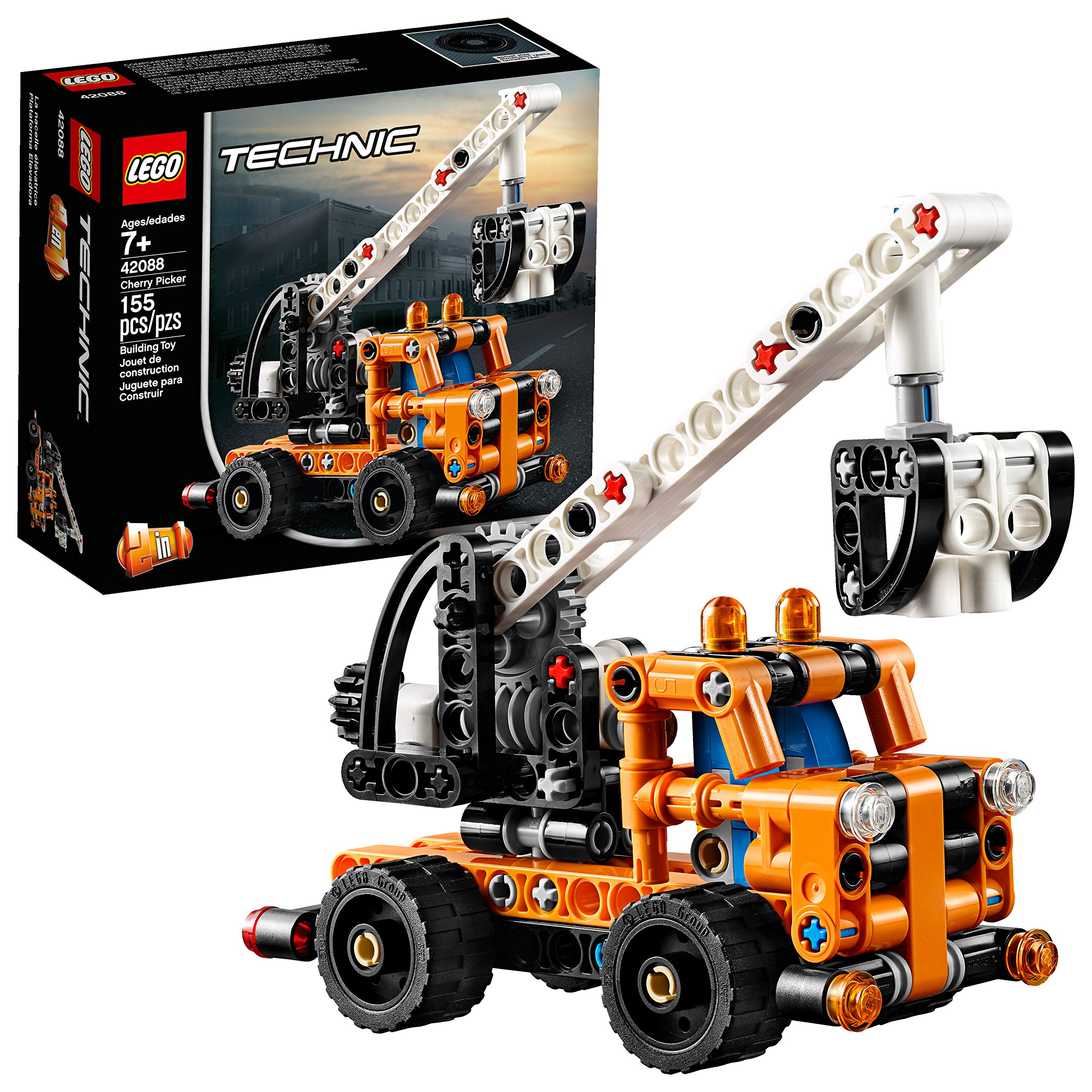 lego technic cherry picker 42088 building kit new 2019. Black Bedroom Furniture Sets. Home Design Ideas