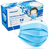 Premium Pack of 50 Masks Children's Size Single Use Disposable Kids Face Mask, Boys and Girls, Soft on Skin, Bulk Pack 3-Ply