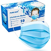 Premium Pack of 50 Masks Children's Size Single Use Disposable Kids Face Mask, Boys and Girls, Soft on Skin, Bulk Pack 3…