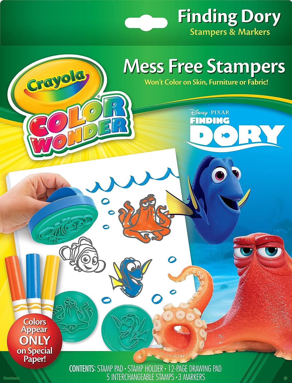 Crayola Finding Dory Color Wonder Stamper /& Paper Set Binney /& Smith 75-2347