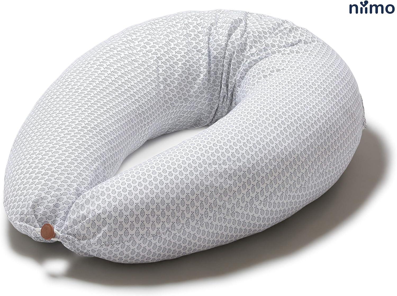 Gris-Pois Blanc Niimo Taie doreiller de Grossesse et Allaitement 100/% Coton appropri/é pour AlphaXXL