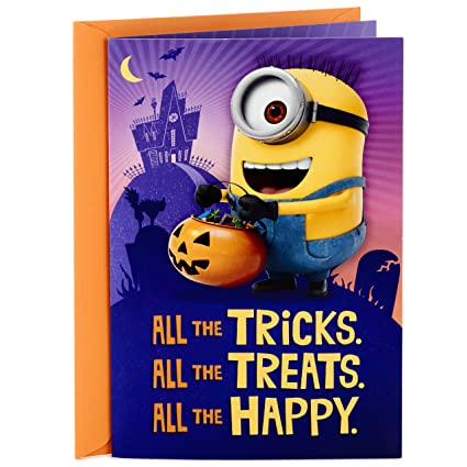 Amazoncom Hallmark Minions Halloween Card With Song For Kids