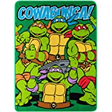 """Nickelodeon's Teenage Mutant Ninja Turtles, Throw Blanket, Green, Red, Yellow, Purple, Blue, 46 by 60"""""""