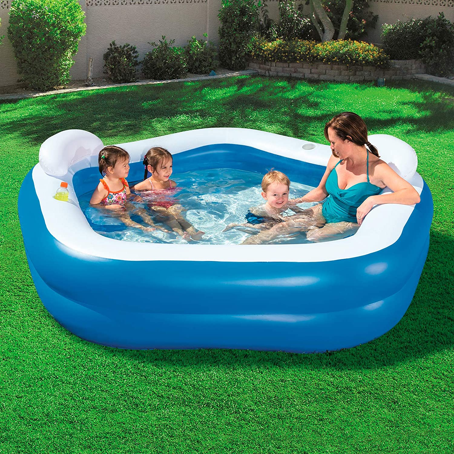 Bestway 54153 - Piscina Hinchable Infantil Family Fun 213x207x69 ...
