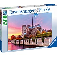 Ravensburger, Rompecabezas Notre Dame al Atardecer, 1500 Piezas