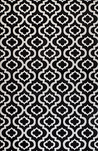 Summit 25 New Black White Trellis Lattice Modern Abstract Rug Many Aprx Sizes Available , 2 X7 ACTUAL 22 X 83 HALLWAY RUNNER