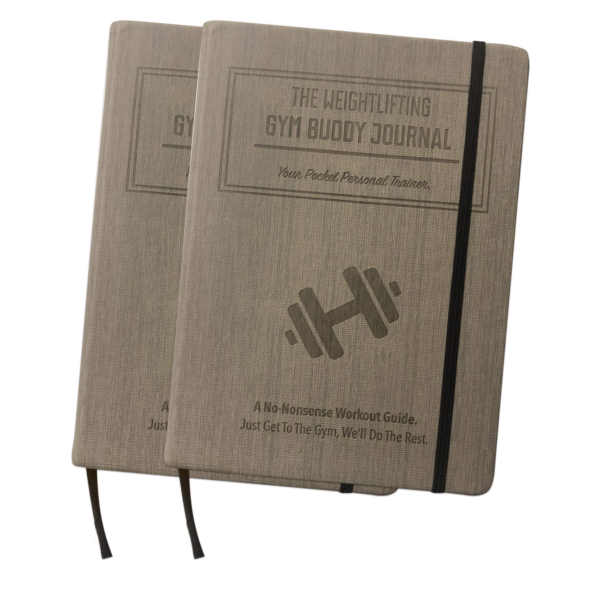 Habit Nest Bundle - 2X The Weightlifting Gym Buddy Journal (Gray). A 12-Week Personal Training Program in A Journal. A 12-Week Workout and Exercise Journal/Log. Your Ultimate Fitness Planner.