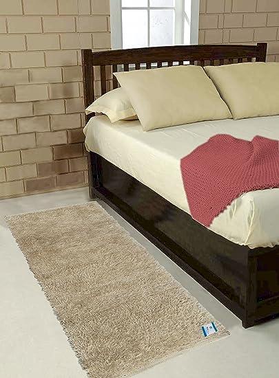 Glamkaart Beige Color Floor Rug 2x5 Feet