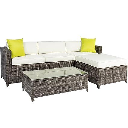 Amazon.com: Conjunto de sofá de mimbre de ratá ...