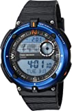 Casio Men's 'Twin Sensor' Quartz Resin Casual Watch, Color:Black (Model: SGW-600H-2ACF)