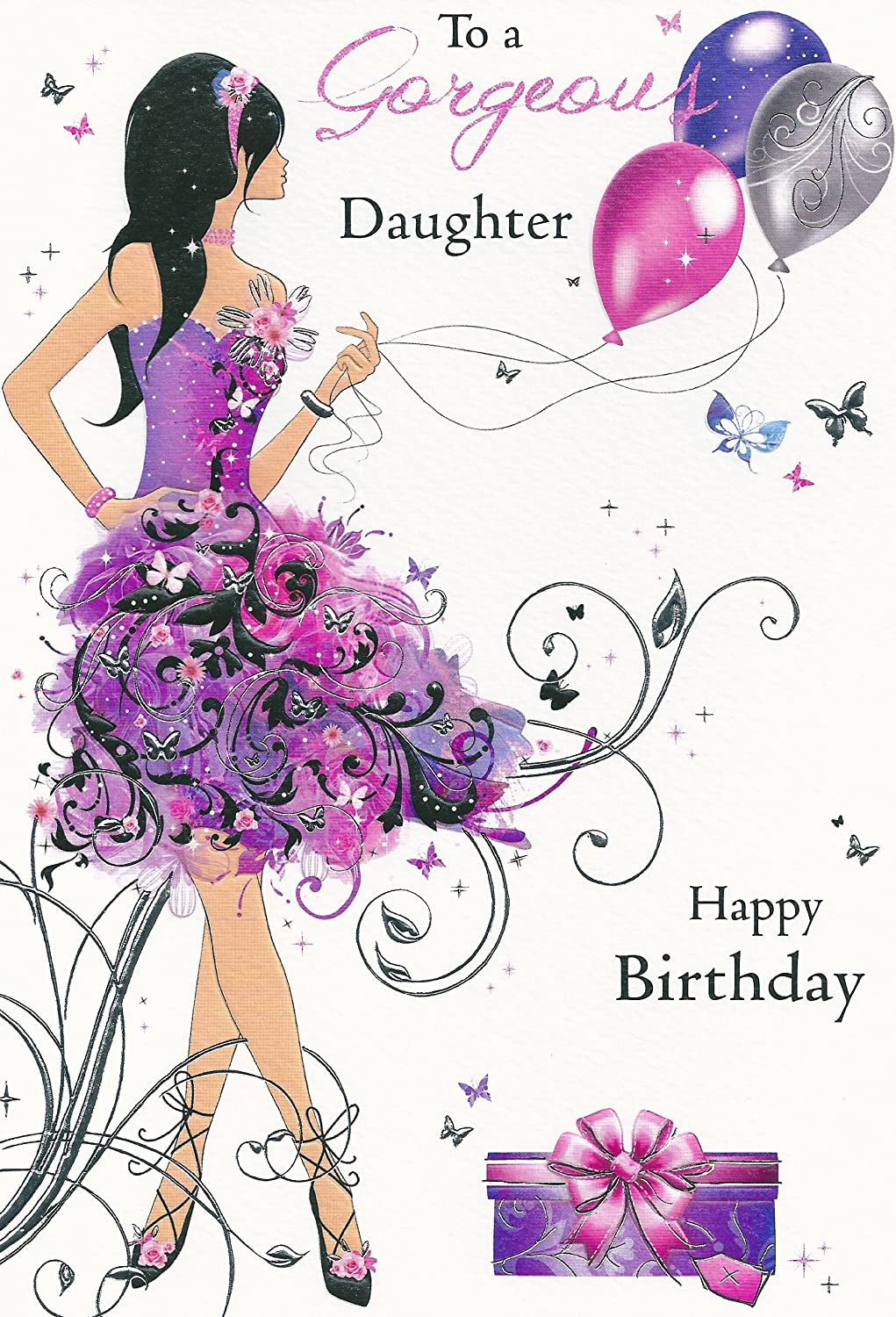 To a gorgeous daughter happy birthday amazon office products bookmarktalkfo Images