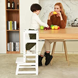 SDADI Adjustable Height Kitchen Step Stool,Kids Learning Stool,Mothers' Helper LT05W