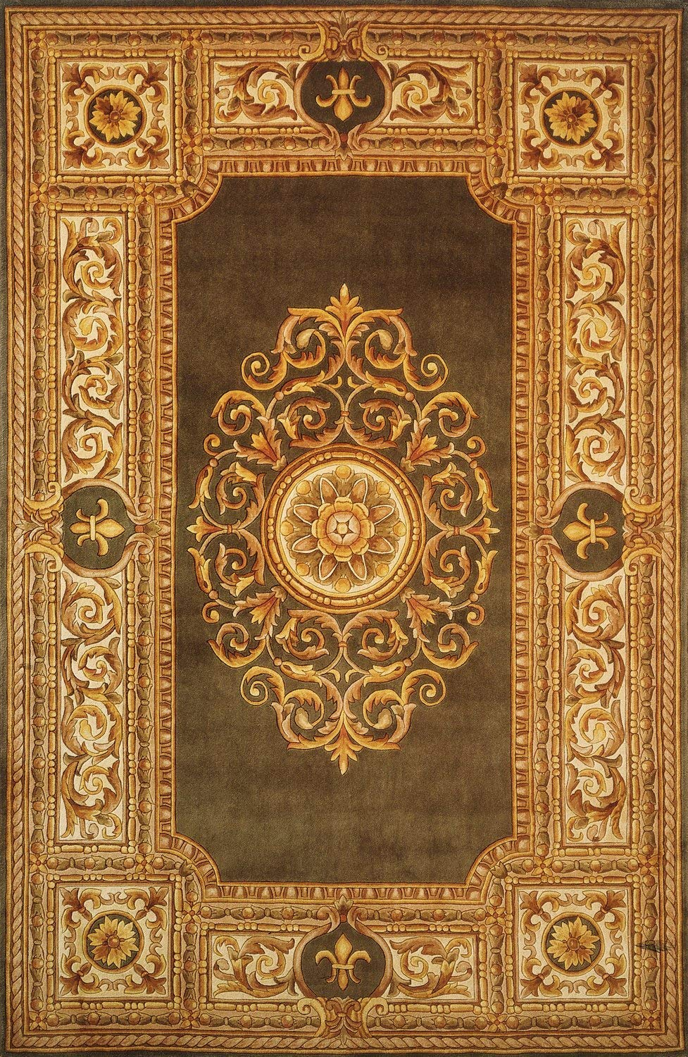 100/% Wool Hand Carved /& Hand Tufted Traditional Area Rug 26 x 8 Runner Momeni Rugs MAISOMA-08GRN2680 Maison Collection Green 2/'6 x 8/' Runner Inc DROPSHIP