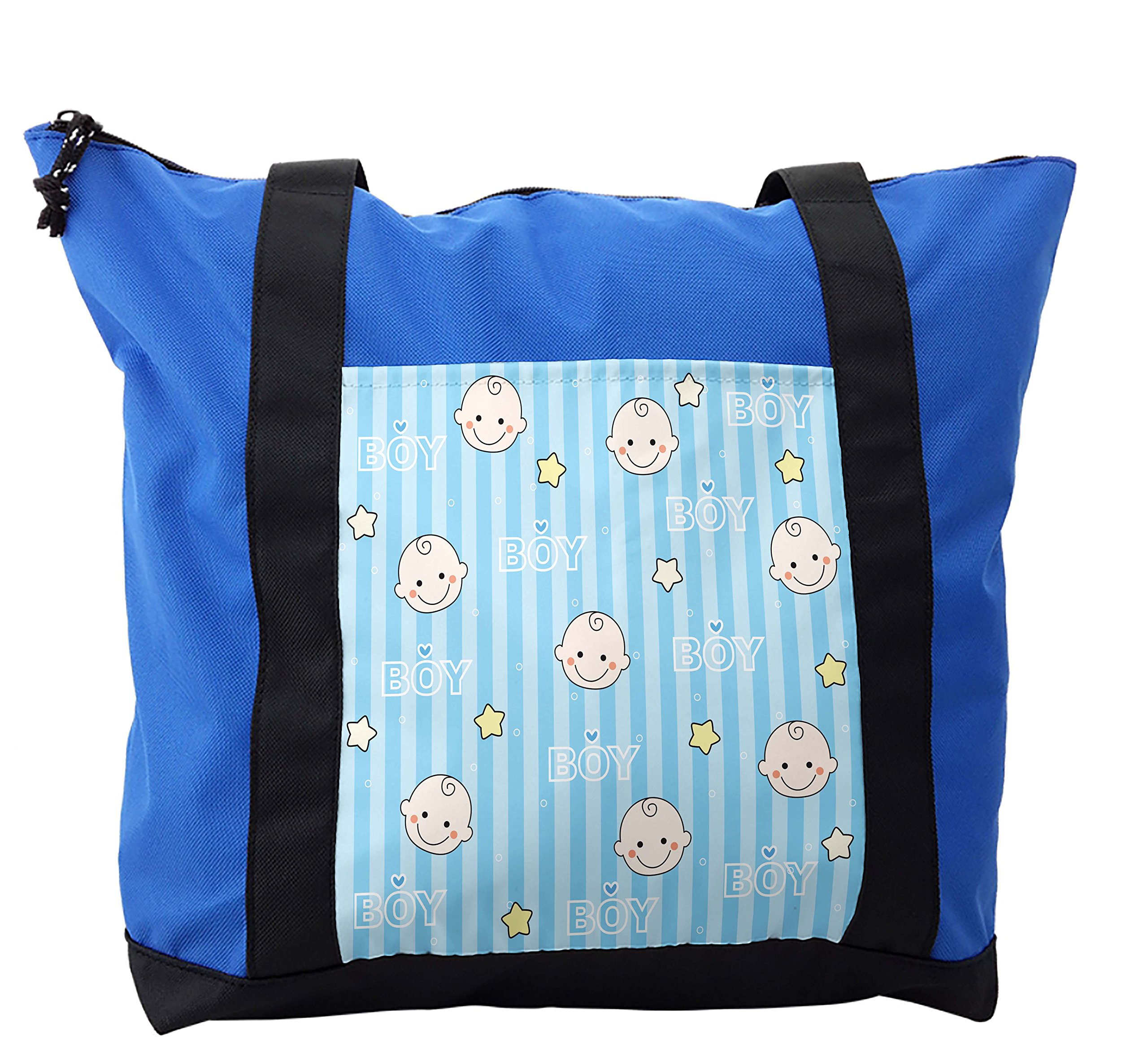 Lunarable Kids Shoulder Bag, Baby Shower Theme Its a Boy, Durable with Zipper by Lunarable