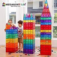 MegagonTiles 110PCS Premium Magnetic Tiles   STEM AUTHENTICATED   Magnetic Blocks   Magnetic Toys   Magnetic Building…