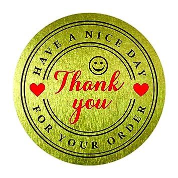 Amazon.com: Gracias por su compra Fin de tener un buen día ...