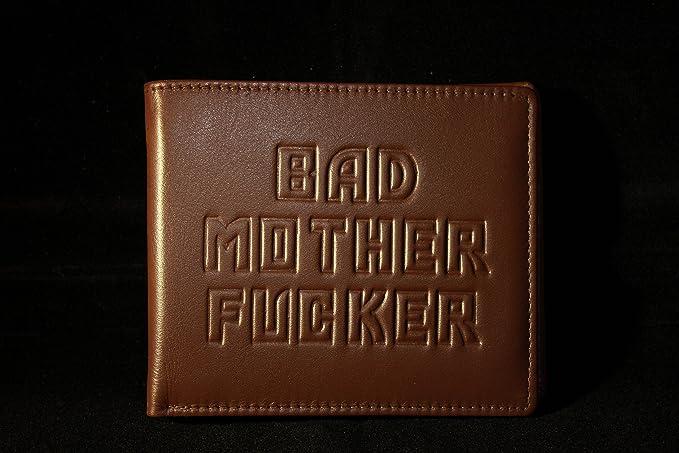 Bad Mother Fucker - Cartera 100% Piel), color marrón: Amazon.es: Equipaje