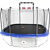 Skywalker Trampolines Jump/Dunk/Kick Trampoline - 14' Square Jump, Dunk & Kick Sports Arena, Blue