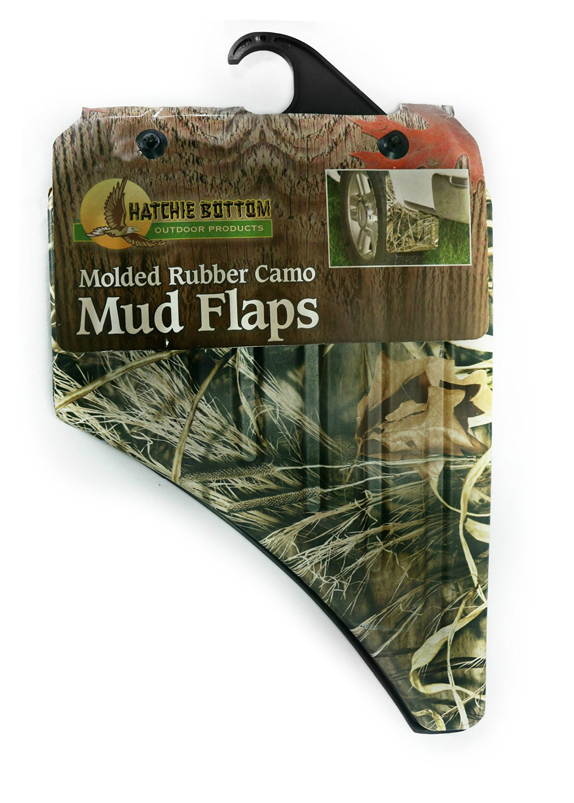 BT Outdoors Camo Mud Flaps Max 4 Universal Fit Heavy Duty Camo Splash Guards with Mounting Screws