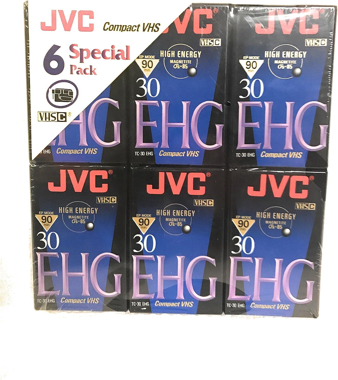 JVC EHG VHS C Hi Fi TC 30-6 pack