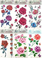 6 sheets temporary tattoo stickers fake tattoos look real