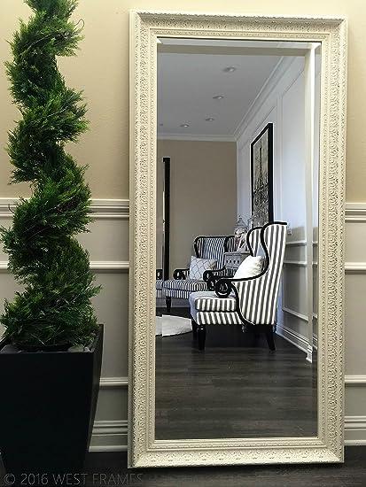 Amazon.com: West Frames Elegance Ornate Embossed Antique White Wood ...