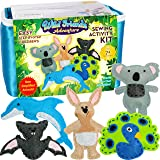 Four Seasons Crafting Kids Sewing Kit and Animal Crafts - Fun DIY Kid Craft and Sew Kits for Girls and Boys 120 Piece Set