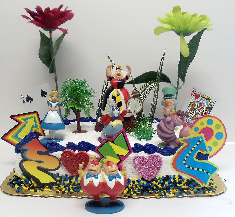 Amazon Alice In Wonderland Birthday Cake Topper Set Featuring