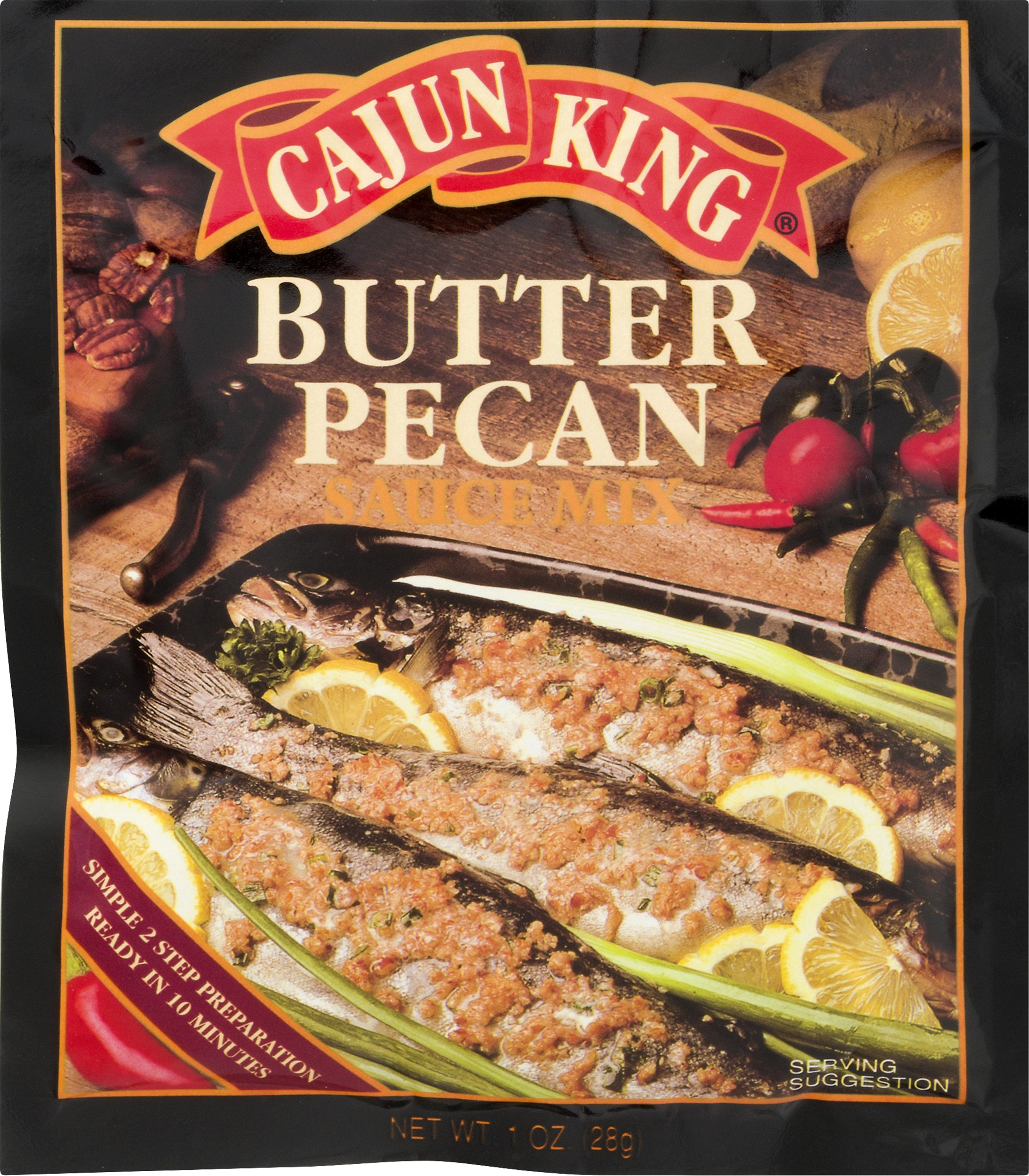 Cajun King Butter Pecan Seafood Sauce Mix, 1 Ounce Packets (Pack of 3)