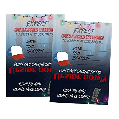 Stranger Kids TV Party Supply Strange Things Themed Invitations Envelopes: Toys & Games