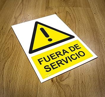 CARTEL FUERA DE SERVICIO | ADVERTENCIA FUERA DE SERVICIO ...